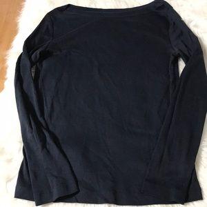 Gap women's long sleeve top size XL navy blue